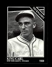 1992 Conlon # 552 Nicknames Carl Hubbell San Francisco Giants (Baseball Card) Dean's Cards 8 - NM/MT Giants