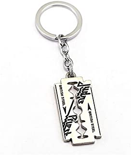 Value-Smart-Toys - Judas Priest Keychain razor blade shape Key Chain music band Key Holder Chaveiro Jewelry favorite gifts