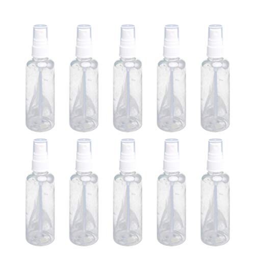 Mobestech 10 Pcs 100 Ml Mini Vaporisateur Transparent Bouteille Rechargeable en Plastique Atomiseur Conteneur Cosmétiques Stockage Titulaire Distributeur de Parfum pour La Maison Jardin Coiffeur