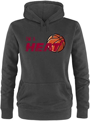 EZYshirt® I`m a Heat Basketball Pullover Damen | Frauen Kapuzenpullover | Hoodie