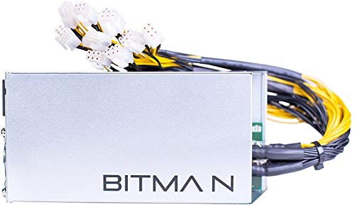 BitcoinMerch.com - Bitmain Antminer New Power Supply APW7 PSU 1800w 110v 220v Much Better Than APW3++ for S9 or L3+ or Z9 Mini or D3 w/ 10 Connectors