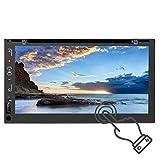 Navegación GPS para automóvil, WiFi Pantalla táctil de 6.95 Pulgadas Estéreo Auto Video Mutimedia Reproductor MP5 Soporte para Imagen inversa y función de Enlace Espejo