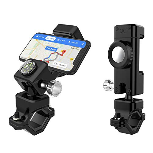 Foncent Fahrrad Handyhalterung, 360°Drehbar Universal Motorrad Handy Halterung Anti-Shake Fahrradhalterung mit Kompass für 4-7 Zoll Smartphone GPS Andere Geräte