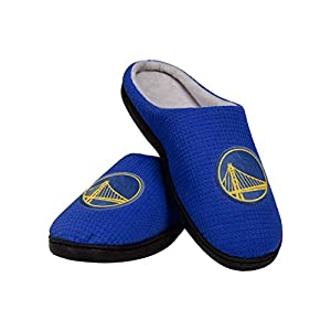 Officially licensed All-over waffle-knit, team-colored design Embroidered team logo display on each slipper Soft, memory foam interior Gripped outsole