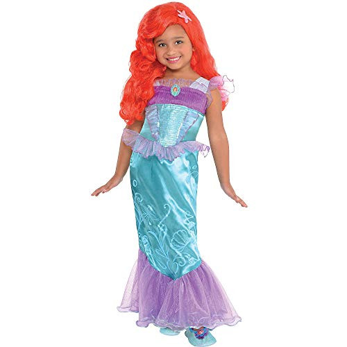 Costumes USA The Little Mermaid Ariel Costume for Girls, Size Medium, Featuring Purple Mesh and a Character Cameo