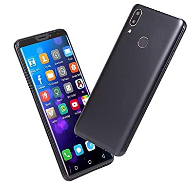 Momola New 6.1 inch Dual HD Camera Dual SIM Unlocked Smartphone, Fashion Ultra Android 7.1 Quad-Core 1GB+4GB+Extra 16GB FULL Screen GSM/WCDMA Touch Screen WIFI Bluetooth GPS 3G Call Mobile Phone