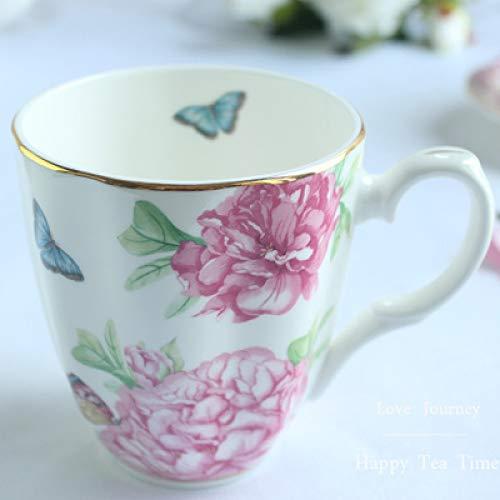 Taza Taza de café Taza de Porcelana británica Cuchara con Tapa de...