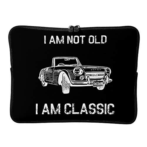 Regular I Am Not Old I Am Classic - Bolsas para ordenador portátil grandes de primera clase para tabletas aptas para el trabajo, White (Blanco) - Annlotte-dnb