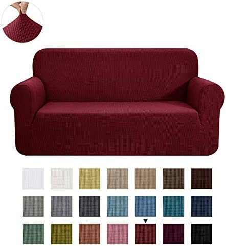 Best CHUN YI Stretch Sofa Slipcover 1-Piece Couch Cover Furniture Protector, 3 Seater Coat Soft with Elas