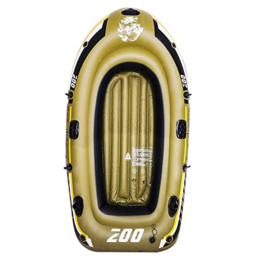 HOUADDY Juego de Botes inflables, Bote de Pesca Plegable Resistente al Desgaste Engrosado de PVC, diversión para Adultos y niños y Pesca en el Agua