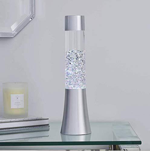 Lava Lampe, modern, glitzernd, silberfarben