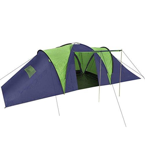 Tidyard Campingzelt für bis zu 9 Personen Familienzelt mit 3 Lüftungsfenster Atmungsaktiv Camping Reisen Zelt 7,5 kg 590 x 400 x 185 cm Farbauswahl