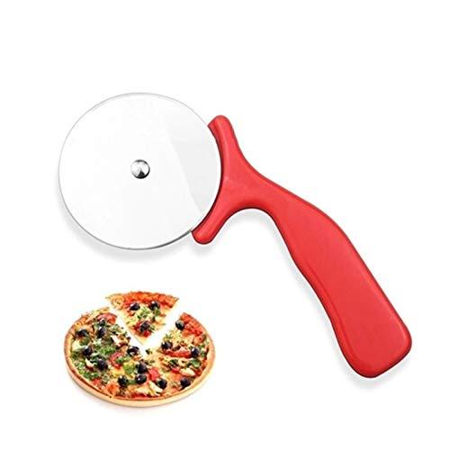 SZTUCCE 1pc Pizza Cortador de Acero Inoxidable Cuchillo Herramientas de Pastel de Pizza Ruedas Tijeras Ideal Pizza Tartas Waffles Galletas de Masa Gadgets de Cocina (Color : A)