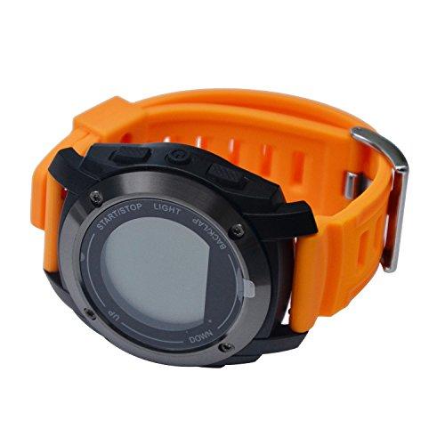 Elegant GPS Smart-Watch Phone mit Aktivitätstracker, Pulsmesser, Schlaftracker, Remote-Kamera, Anti-verlorene Fitness Armband Mit Android IOS Smartphones Für Herren
