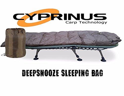 Carpstar Cyprinus Schlafsack für 5 Jahreszeiten, zum Karpfenangeln, große Schlummerfunktion, Trakker-Schlafsack, Fuchs-Schlafsack