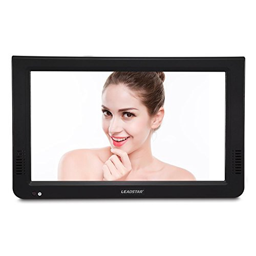 Portable Digital TV,10inch DVB-T-T2 1080P HD Digital Analog Televisions,Car Television Portable Freeview TV 1024x600 Resolution with Biuld-in Battery for Outdoor Caravan/Car/Camping/Bedroom(Black)