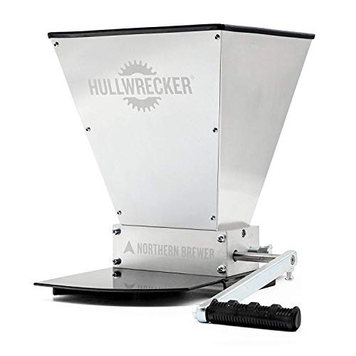 Northern Brewer - Hullwrecker 2-Roller Grain Mill with Metal Base and Handle