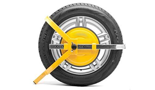 Vivol Radkralle für Radgröße 13 bis 15 Zoll - diebstahlsicherung für PKW und Anhänger