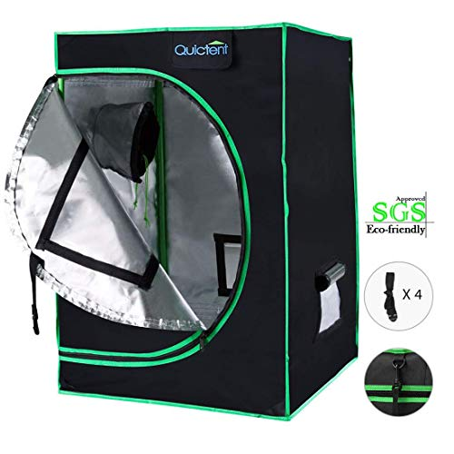 Quictent SGS Approved Eco-Friendly Reflective Mylar Hydroponic Grow Tent with Heavy Duty Anti-Burst...