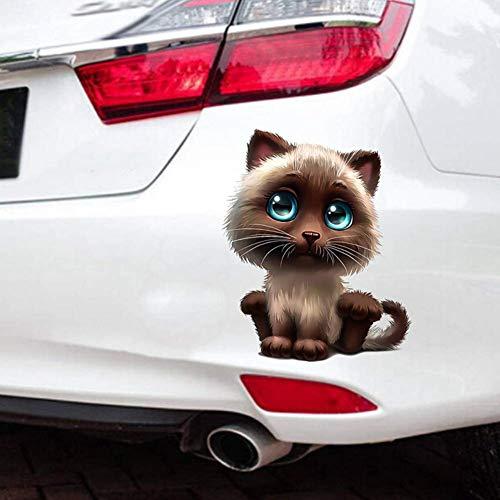 Calcomanía de pared de gatos 3D, calcomanías de pared de ventana de gato, pegatinas de gatito de anime estéreo 3D, pegatinas de estilo de coche, pegatinas de bricolaje para nevera, 15 * 18 CM