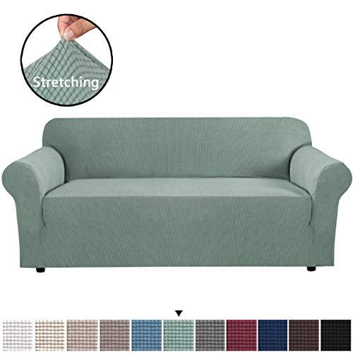 BellaHills Stretch Extra Large Sofa Schonbezug, Sofabezüge für Wohnzimmer, 1 Stück Möbel Lounge Cover für Sofa, Feature Spandex Jacquard Stoff für 4-Sitzer Sofa Cover (XL Sofa, Salbei)
