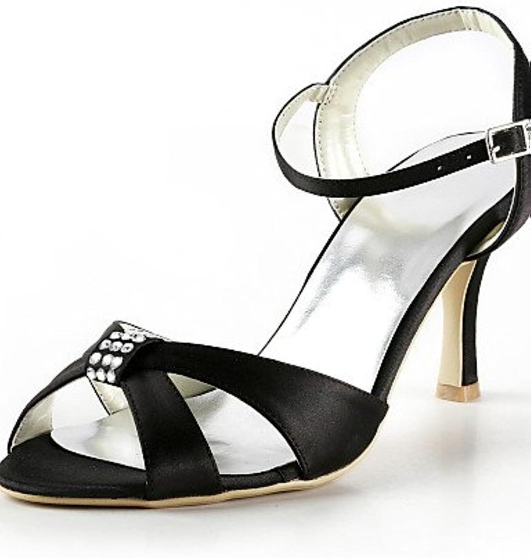 BGYHU GGX Damen Schuhe Schuhe Schuhe Seide Stiletto Heel Heels Peep Toe Heels Hochzeit Party & Abend Kleid Gelb Rosa lilat Rot   284da5