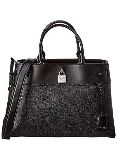 "Silver Toned Hardware Dimensions: 14.5""W x 10""H x 6""D 2 main compartments, 1 center zip compartment, 6 front slip pockets, 2 slip pockets, wall zip pocket, wall slip pocket Adjustable/removable shoulder strap with a 17""-19.5"" drop 100% Pebbled Leathe..."