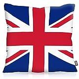 VOID England Great Britain Polyester Kissenbezug Flagge Fahne Fan-Kissen Kissenhülle Outdoor Indoor Bunt, Kissen Größe:60 x 60 cm