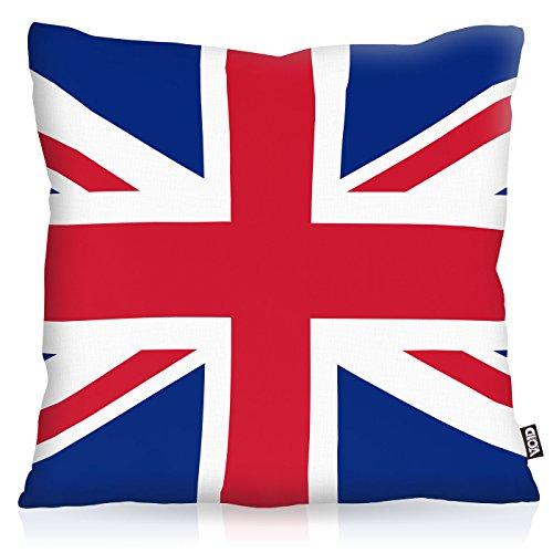 VOID England Great Britain Polyester Kissenbezug Flagge Fahne Fan-Kissen Kissenhülle Outdoor Indoor Bunt, Kissen Größe:40 x 40 cm