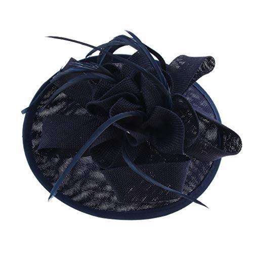 sharprepublic Dame Charming Sinamay Flower Fascinator Hut Hochzeit Cocktail Party Headpiece - Blau