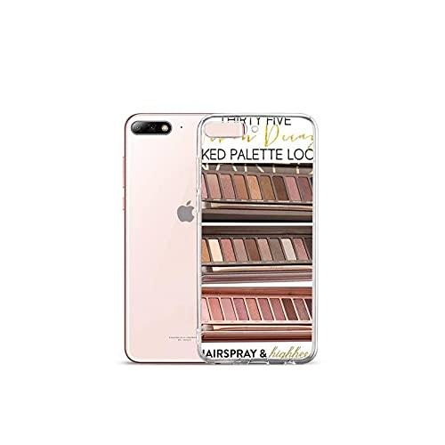 Moda Glam Maquillaje paleta teléfono caso transparente para Samsung A S 11 12 6 7 8 9 10 20 Pro X XS Max XR Plus lite-a4-iphone 11 promax