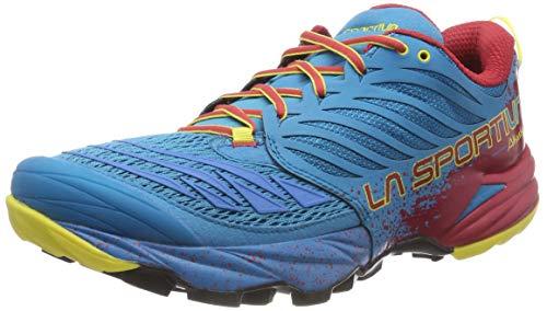 La Sportiva Akasha Tropic, Zapatillas de Trail Running Hombre, Multicolor (Blue/Cardinal Red 000), 42.5 EU