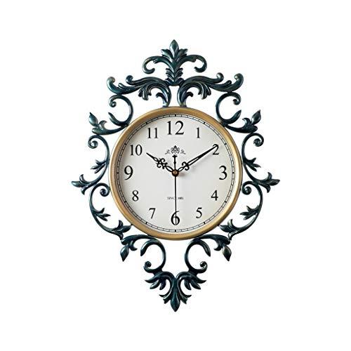 HERVI CYQ Europäische Wanduhr, kreative Atmosphäre Retro Uhr, Wohnzimmer Mute amerikanische Wand Charts Home Schlafzimmer Quarz-Wanduhr