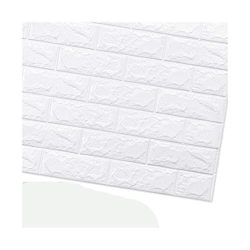 HYCSP Tapete Ziegel Aufkleber Raum Küche Selbstklebende Hintergrund Dekoration wasserdichte Wanddekoration Aufkleber (Color : C01 Brick White)