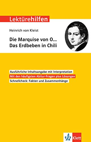 Klett Lektürehilfen Heinrich von Kleist, Die Marquise von O… Das Erdbeben in Chili: Interpretationshilfe für Oberstufe und Abitur