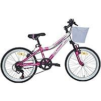"""Ümit 20"""" Diana Bicicleta Pulgadas con Cambio y Suspension, Unisex niños, Rosa-Blanco"""