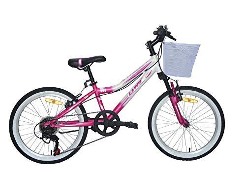 """Bicicleta Diana de 20"""" blanca y rosa de Umit"""
