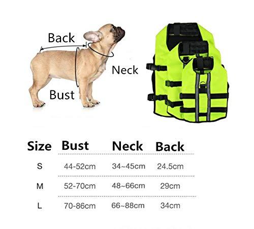 Aexit Cappotti per Cani Cappotto per Cani Impermeabile Giubbotto di Salvataggio per airbag per Animali Domestici Costume da Bagno di Sicurezza per Cani gonfiabili Giacca Impermeabile M
