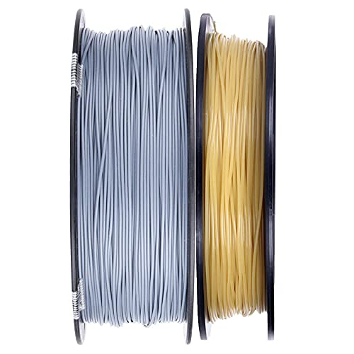 3D Printer Filament 1.75mm 1kg PLA+ and 0.5kg Water Soluble PVA, 3D Printing Filament for 3d Printers-Gray_1.75mm