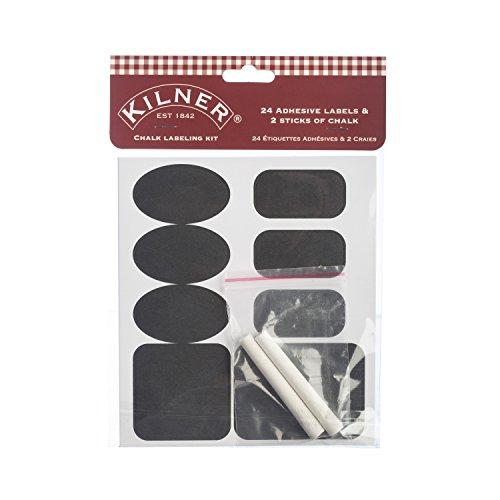 Kilner 26-teiliges Klebetafel Etikettierungs-Set mit Kreide Beschriftungstafeln, weiß, One Size