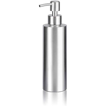 ARKTEK シャンプーボトル、 ソープディスペンサー ステンレス おしゃれ ディスペンサー ステンレス シャンプー ボトル ハンドソープ 食器用洗剤 キッチン 洗面所などに適用 350ML