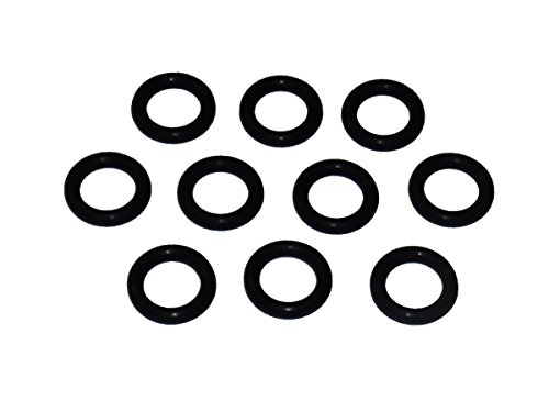 Captain O-Ring - Power Pressure Washer O-Rings for 1/4' Quick Coupler, High Temperature Viton FKM (10 Pack)