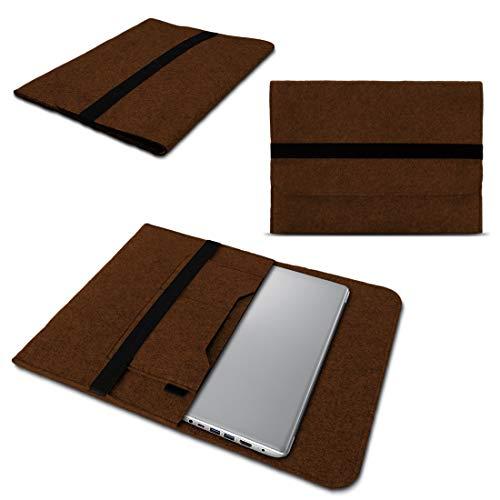 NAUC Lenovo Thinkpad Yoga 370 Tasche Hülle Filz Sleeve Hülle Schutzhülle Notebook Cover, Farben:Braun