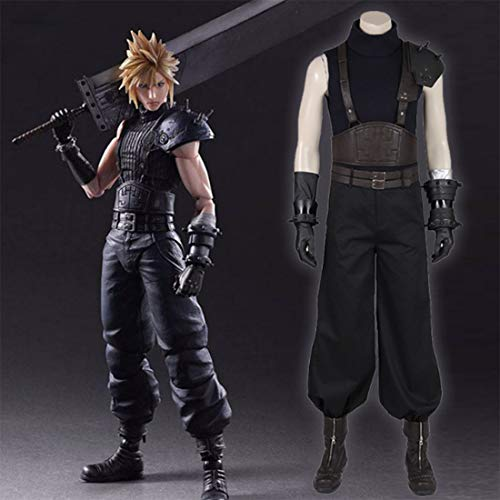 Macium Cosplay Set, Final Fantasy VII Remake Cloud Strife Cosplay Kostüm FF7 Final Fantasy 7 Cosplay Kostüm Full Set - XL