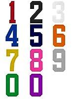 背番号ワッペン 4(ヨン) (グリーン, 10cm)