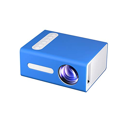 NIBABA Support HD Proyector casero Mini portátil Miniatura Familia proyector LED Niño with Projection Function (Color : Blue, Size : One Size)