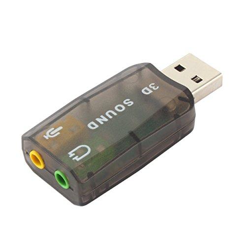 Relabouting USB 2.0 Audio Headset Kopfhörer Kopfhörer Mikrofon Mikrofonanschluss Konverter Adapter mit dynamischem Surround-Hintergrund-Soundeffekt