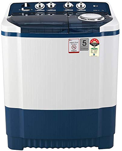 LG 7.5 Kg 5 Star Semi-Automatic Top Loading Washing Machine (P7535SBMZ, Dark Blue)
