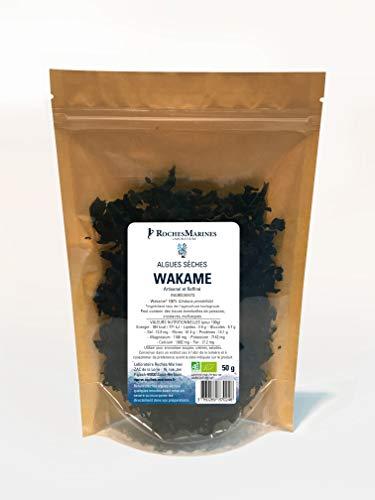 Algue Wakamé Bio en paillette - 50 g - Fabriqué en France - Pour salades et poissons