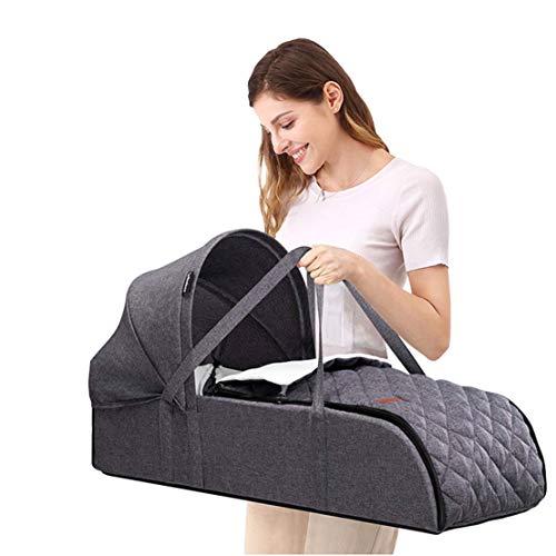 NaDrn Kinderreisebett, Babybetten mit Laufgitterfunktion, Kombi-Reisebett Laufstall Baby inkl. Babywiege Seitlichem Matratze Kinder-Schlafsack für Baby von 0-8 Monate,Blau